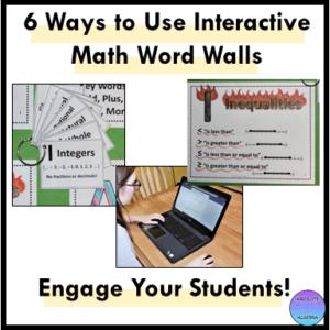 interactive math word walls