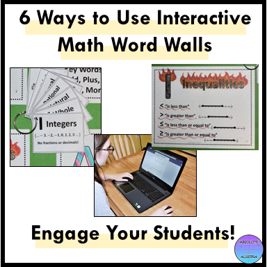 interactive math word walls