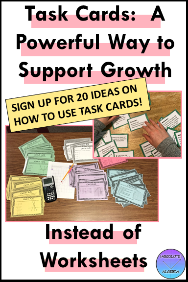 Task Cards:  A Powerful Way to Support Student Growth