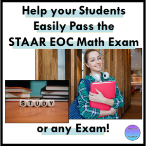 strategies to pass the math STAAR test Algebra