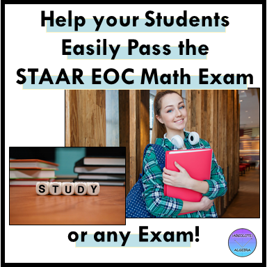 strategies to pass the math STAAR test Algebra