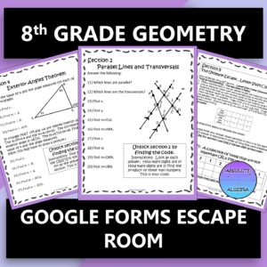 8th Grade Geometry Escape Room Google Form