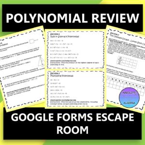 Polynomials Digital Escape Room