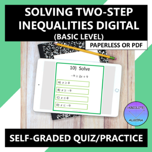 Solving Two-Step Inequalities Google Form