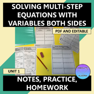 Solving Multi-Step Equations Variables on Both Sides