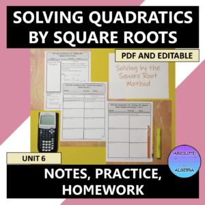 Solving Quadratics Square Root Method
