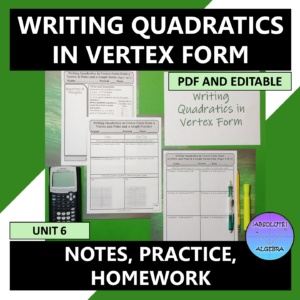 Writing Quadratics in Vertex Form