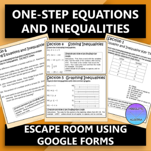 One-Step Equations and Inequalities Digital Escape Room