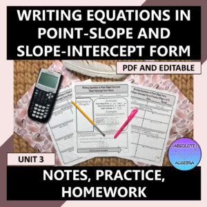 Writing Equations Point-Slope & Slope-Intercept Form