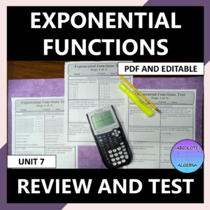 Exponential Functions Unit Review and Test