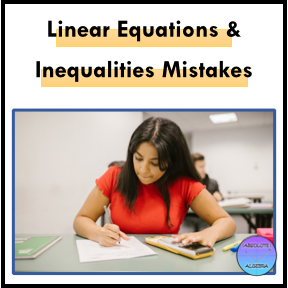 Linear Equations and Inequalities Mistakes, female student using calculator and writing down answer at her desk